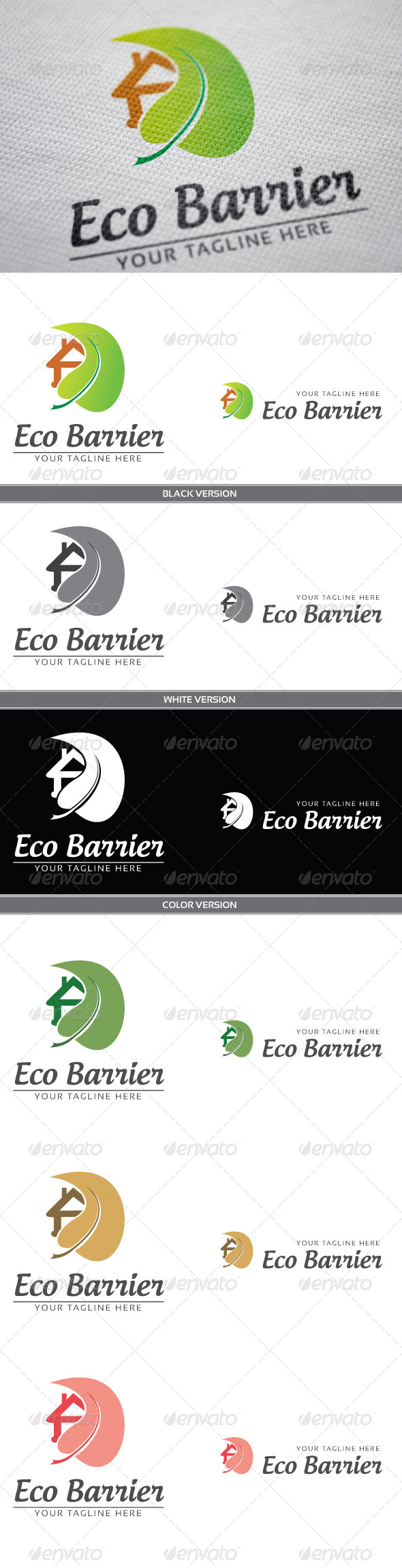 Eco Barrier - Objects Logo Templates