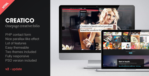Creatico – Responsive HTML5 Onepage Template