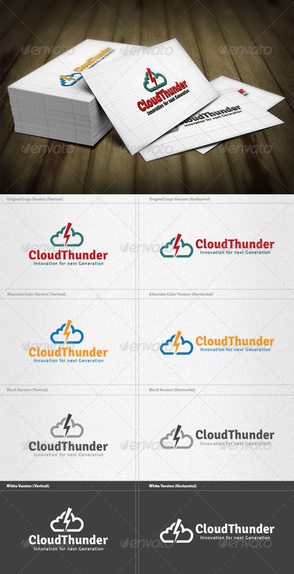 Cloud Thunder Logo - Symbols Logo Templates