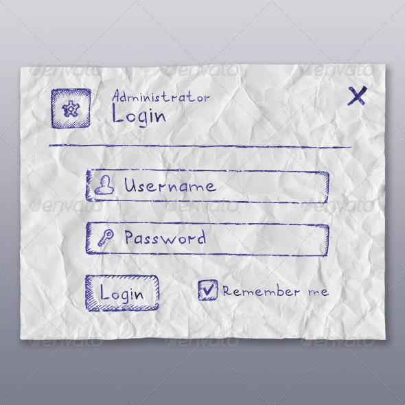 Web App Login Form (BallPen) - Forms Web Elements
