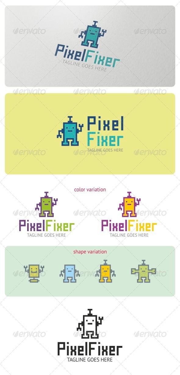 Pixel Fixer Logo Template - Symbols Logo Templates