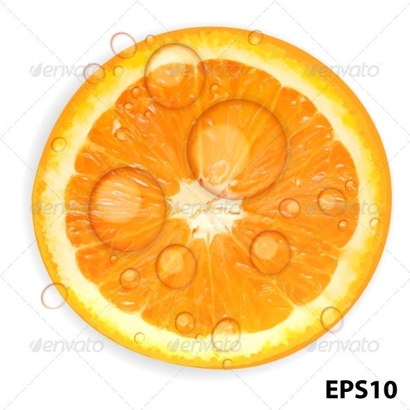 Fresh Orange Background - Food Objects