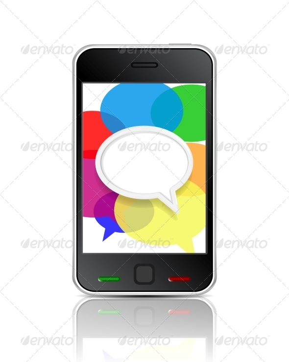 Smart Phone Message Icon - Communications Technology
