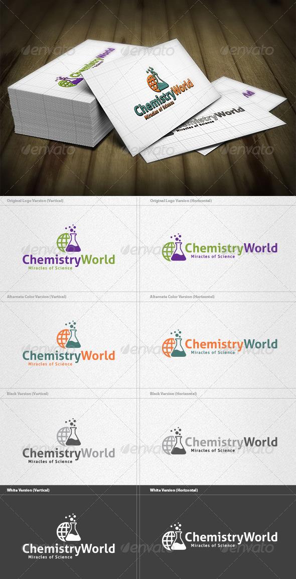 Chemistry World Logo - Symbols Logo Templates