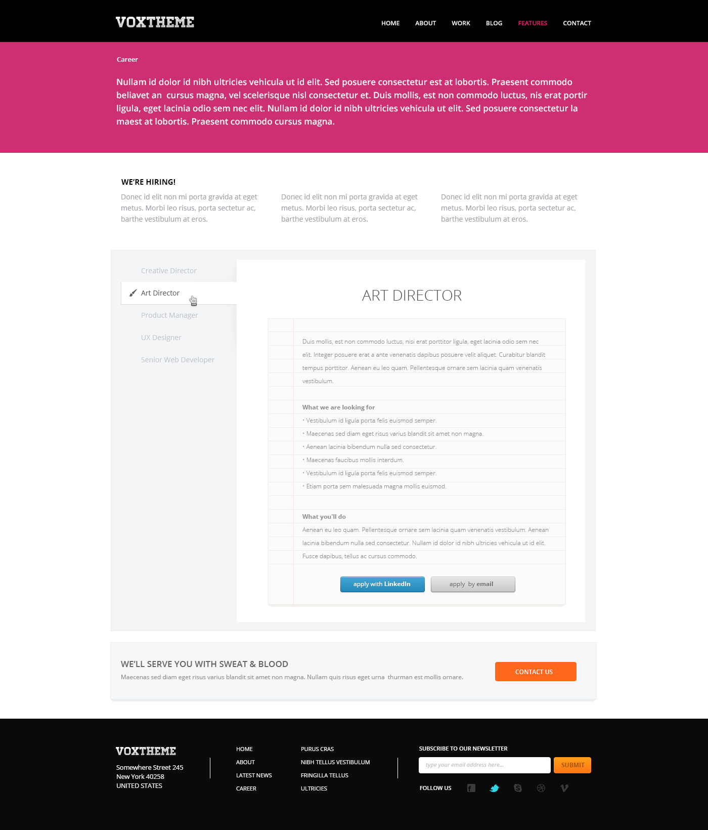 Vox Clean Modern PSD Template By CreativeZeune ThemeForest - About page template