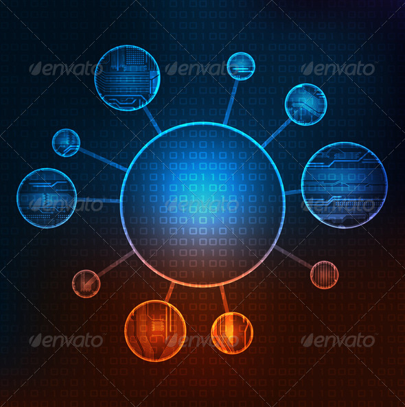 Modern Technology Theme Background - Technology Conceptual