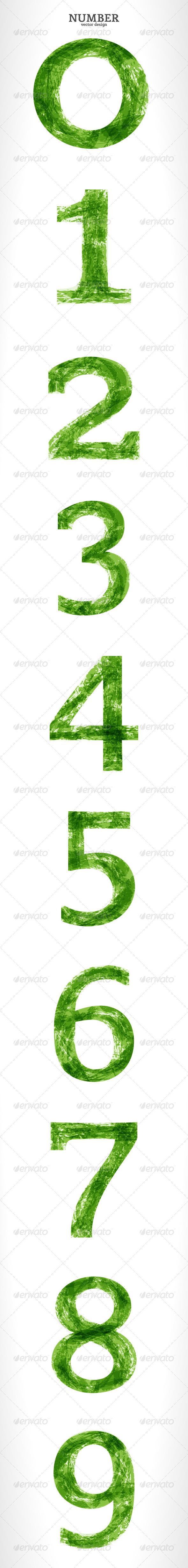 Grunge Vector Number - Decorative Vectors