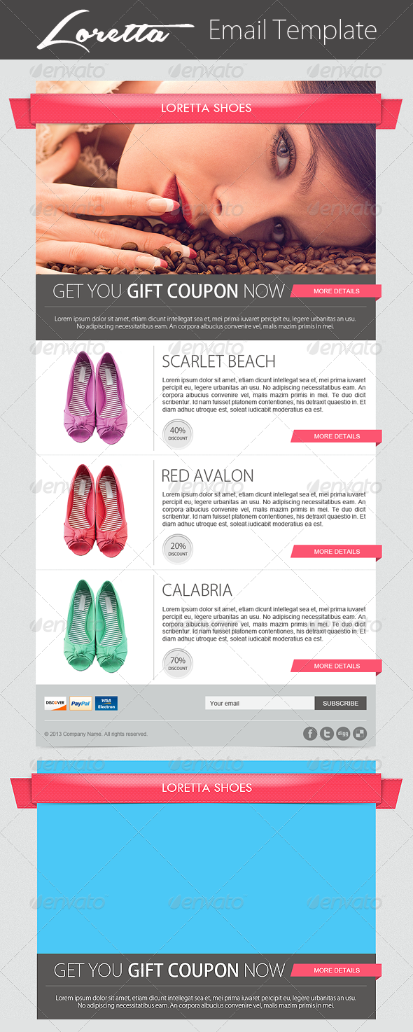 Loretta Ecommerce Newsletter Template - E-newsletters Web Elements