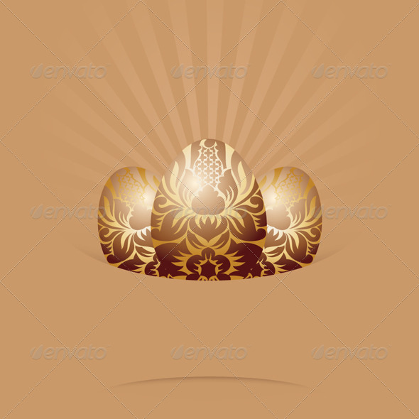Easter Egg Ornament Card - Backgrounds Decorative