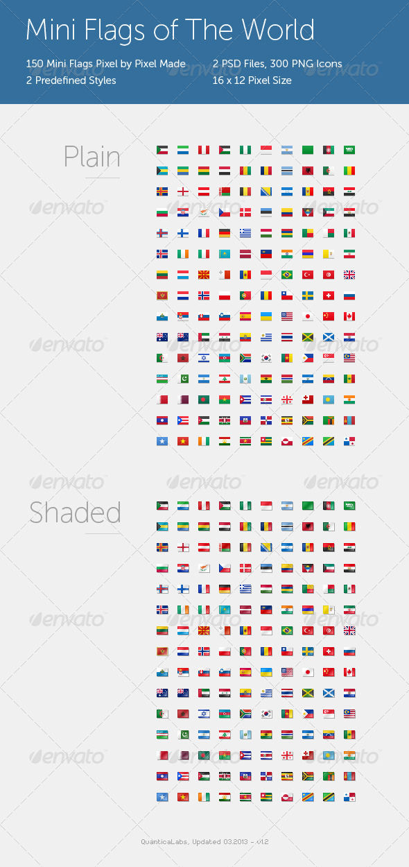 Mini Flags of The World - Web Icons