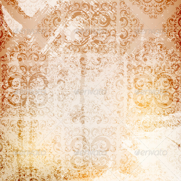 Grungy Ornamented Background - Backgrounds Decorative