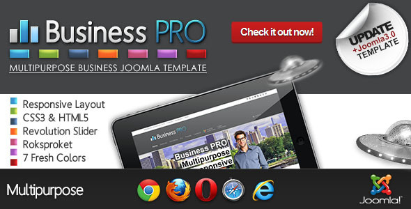 Business Pro – Clean Responsive Joomla Template