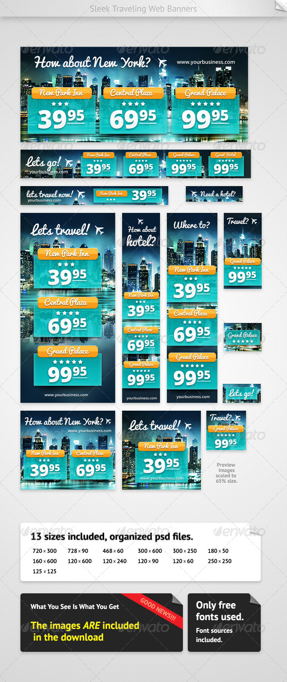 Hotel Web Banners - Banners & Ads Web Elements