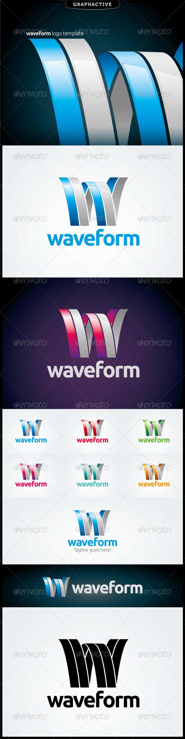 Waveform Logo Template - Letters Logo Templates
