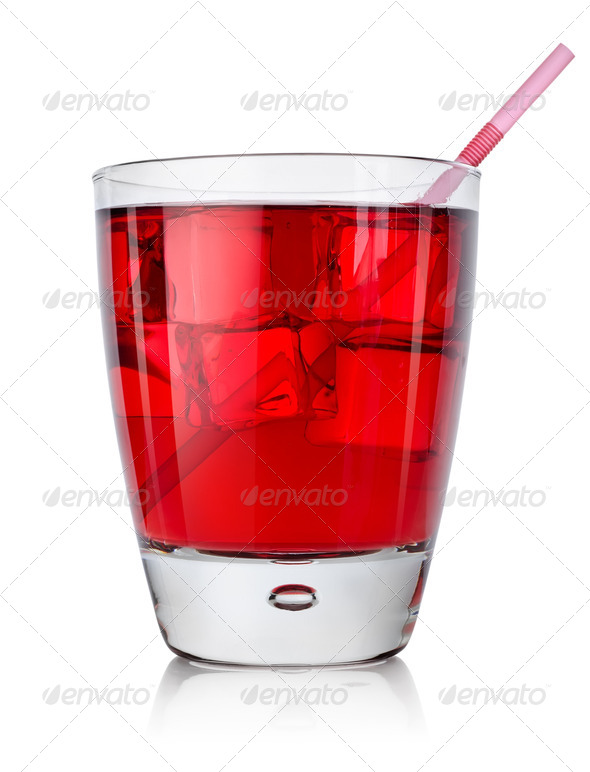 Red cocktail isolated - Stock Photo - Images