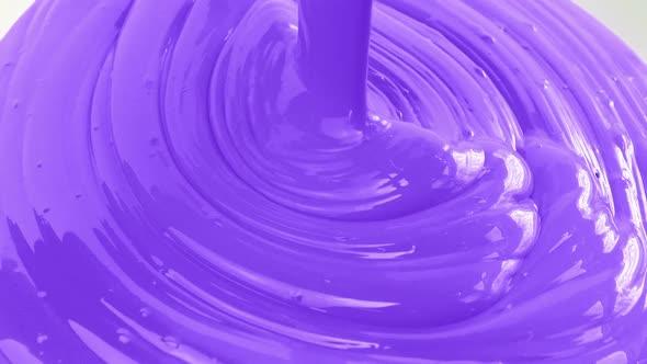 Purple Paint Pouring