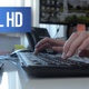 Woman Working Typing on a Keyboard - VideoHive Item for Sale