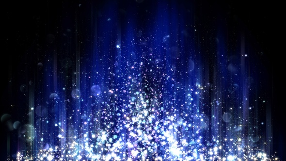Abstract Blue Background With Glitter Particles