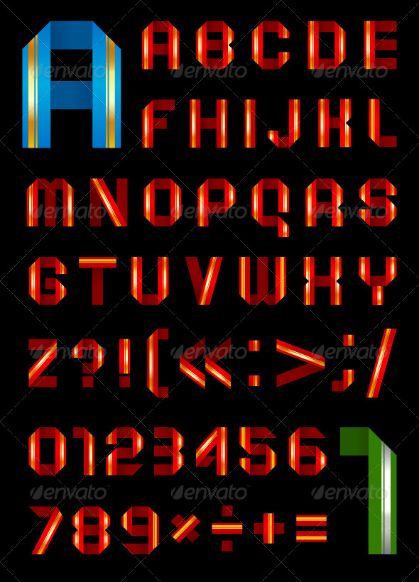 Font From a Color Paper Tape - Miscellaneous Conceptual
