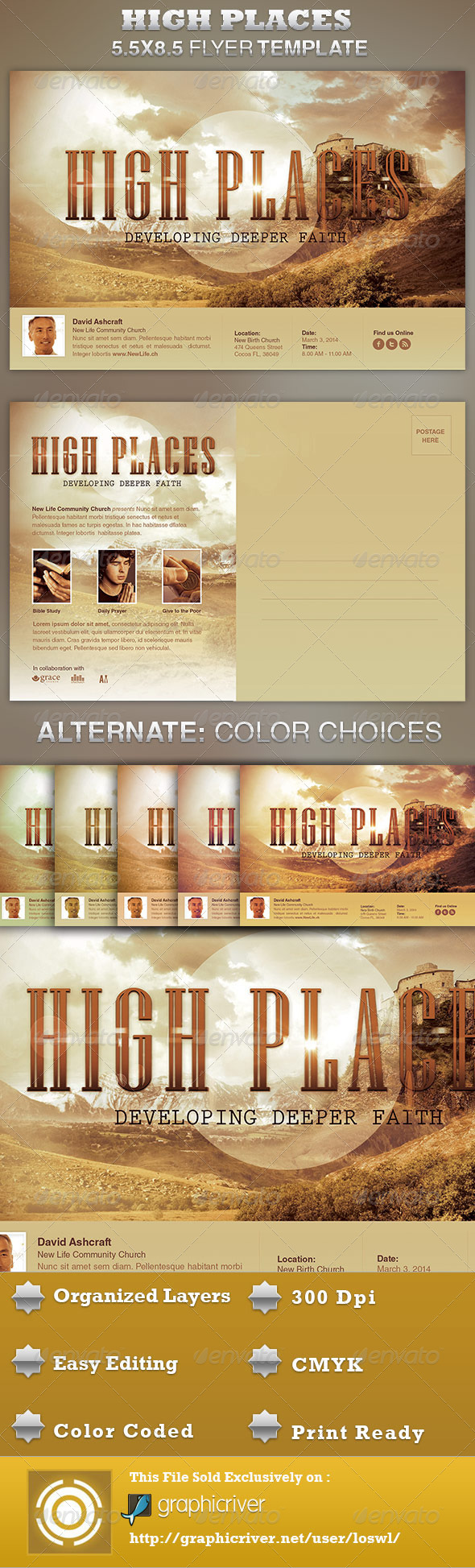 High Places Church Flyer Template - Church Flyers