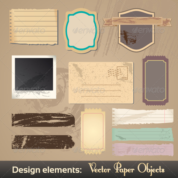Vector Vintage Labels - Web Elements Vectors