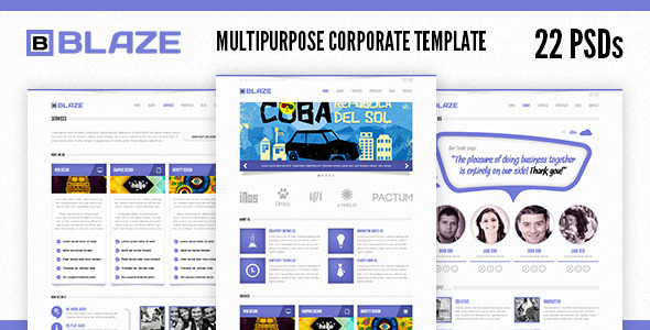 Blaze Corporate PSD Template - Corporate PSD Templates