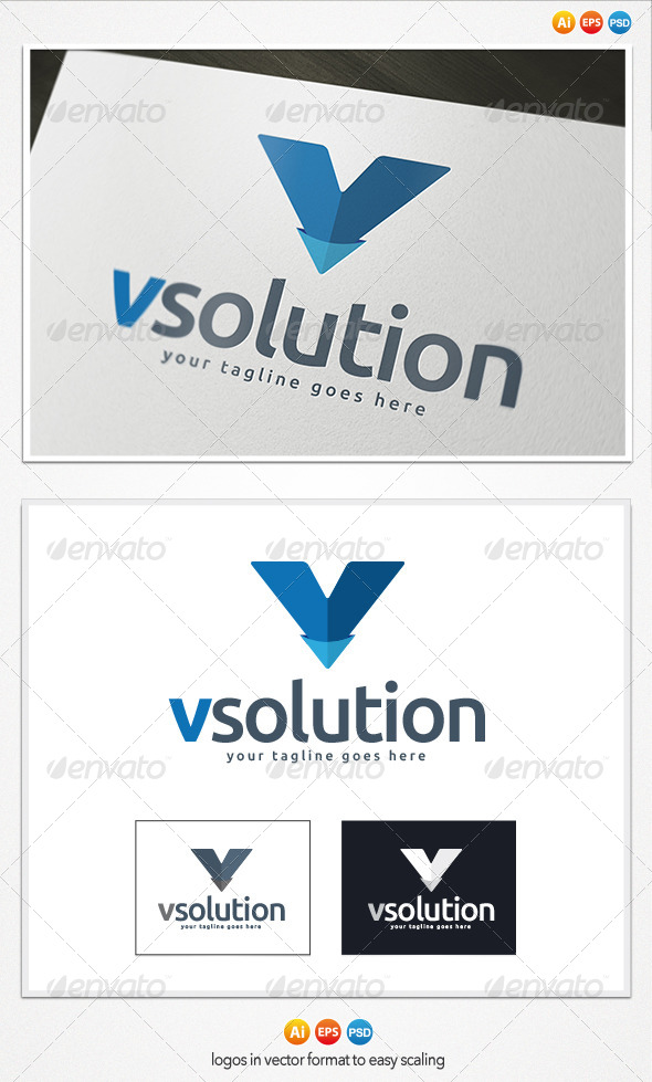 V Letter Logo - Letters Logo Templates