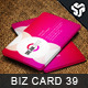 Business Card Design 39 - GraphicRiver Item for Sale