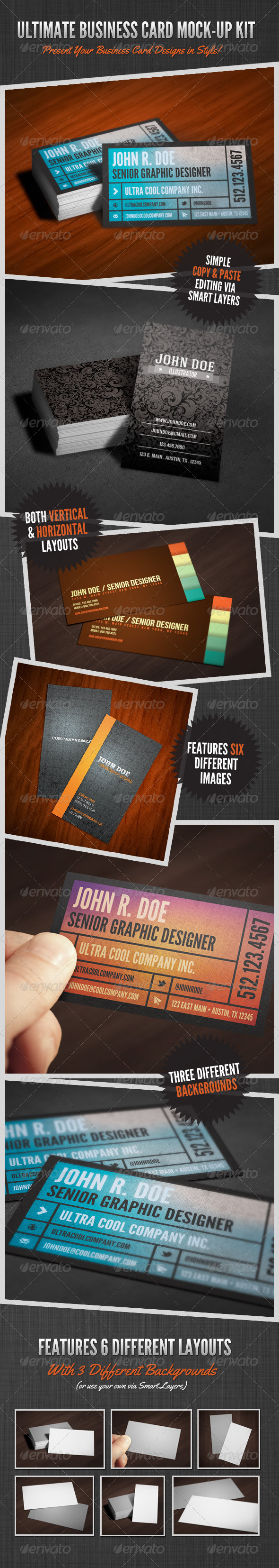 Ultimate Business Card Mock-Up Kit - Print Product Mock-Ups