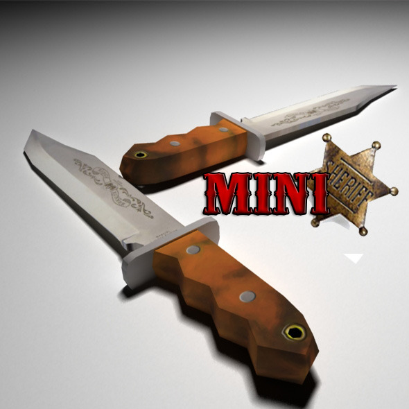 Low Poly Bowie Knife