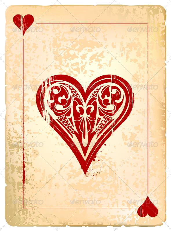 Ace of Hearts - Vectors