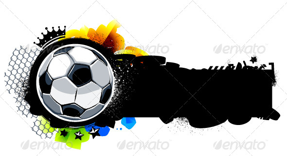Graffiti Image with Soccer Ball - Vectors