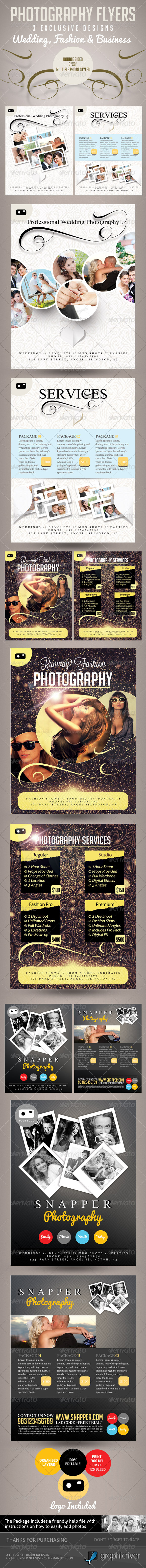 Photography Flyer Pro Series - 3 Themes in 1 - Corporate Flyers