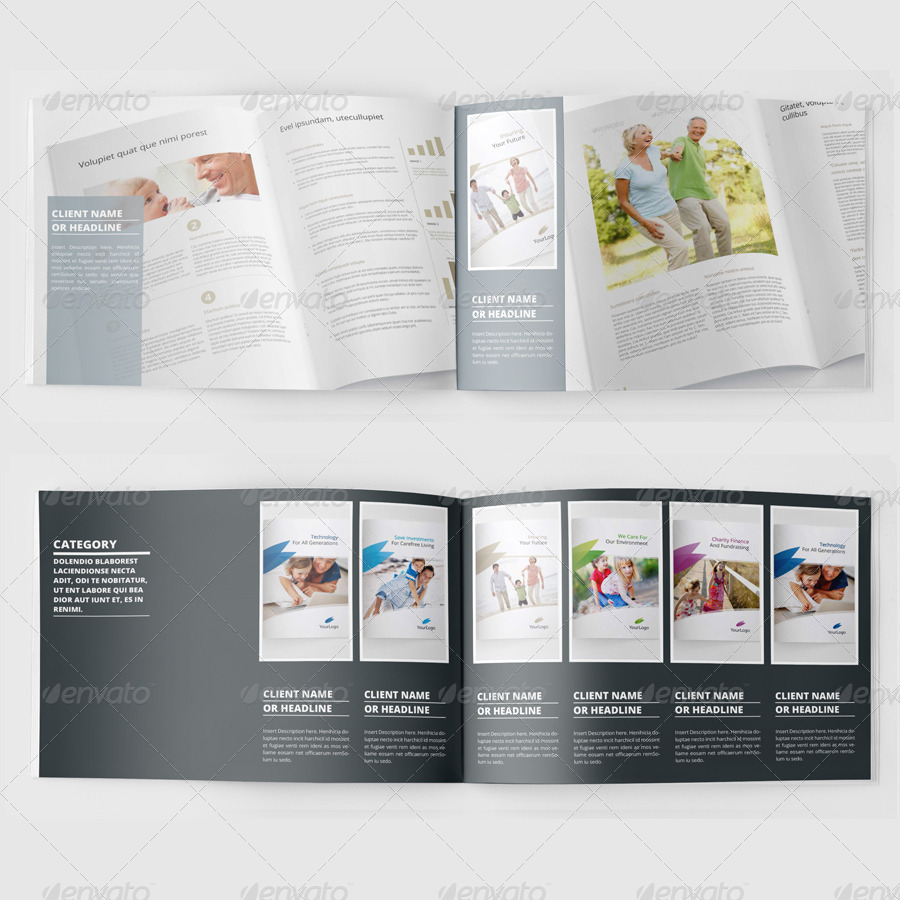 Portfolio booklet or catalog template 36 pages by at hh portfolio booklet or catalog template 36 pages pronofoot35fo Choice Image