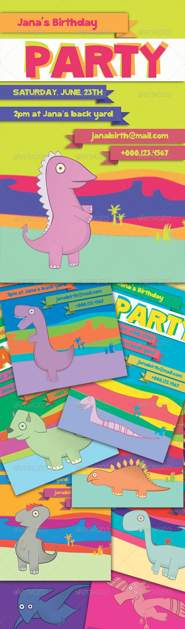 Dinosaur Flyer  - Flyers Print Templates
