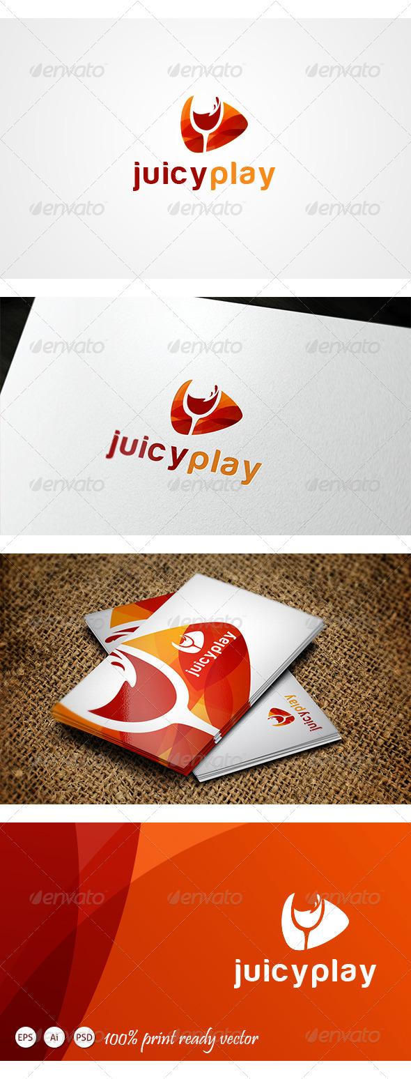 Juicy Play Logo - Symbols Logo Templates