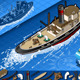 Isometric Old Tugboat in Navigation - GraphicRiver Item for Sale