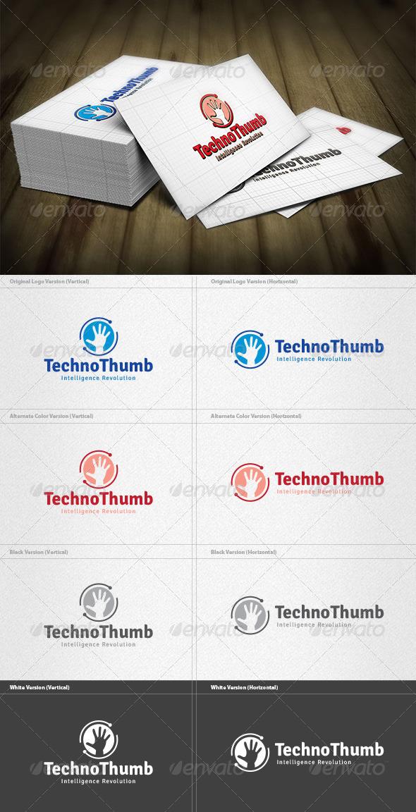 Techno Thumb Logo - Symbols Logo Templates