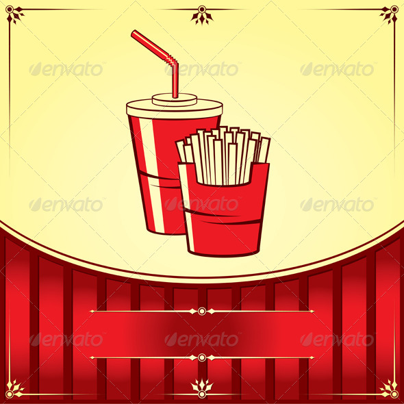 Fast Food with Cola and Fries - Food Objects