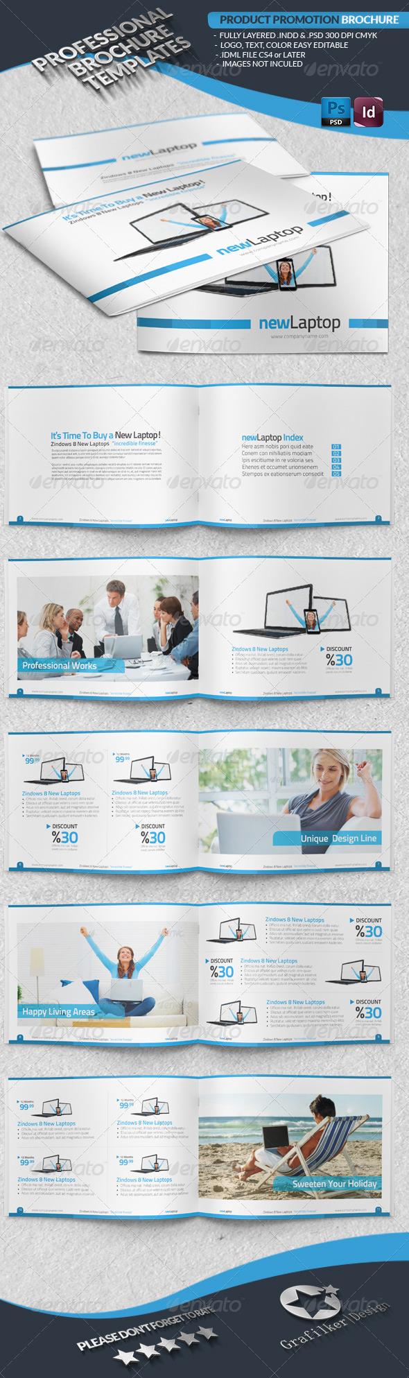 Product Promotion Brochure - Brochures Print Templates