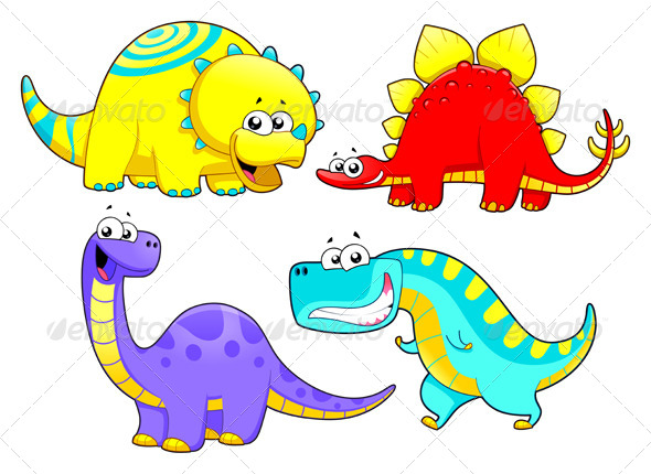 Dinosaurs Family. - Animals Characters