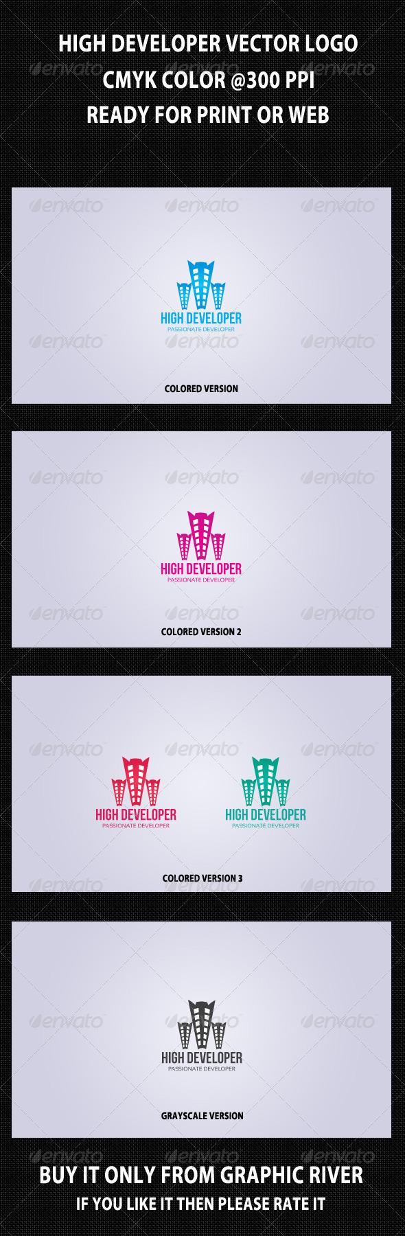High Developer Logo Template - Buildings Logo Templates