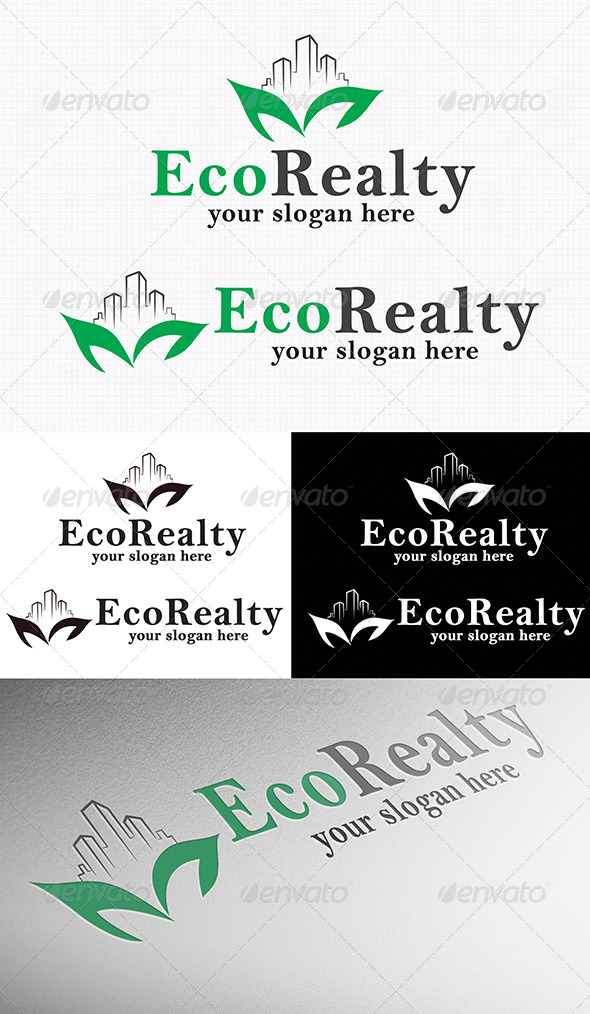 Eco Realty Logo - Nature Logo Templates