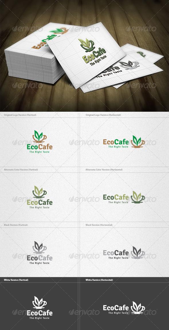 Eco Cafe Logo - Food Logo Templates