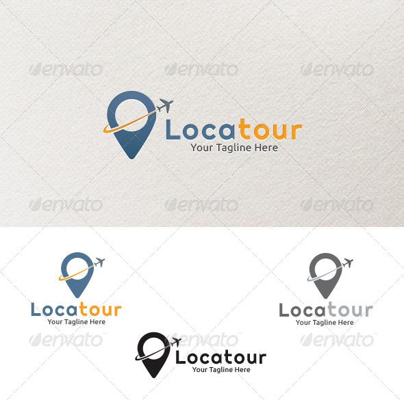 Locatour - Logo Template - Vector Abstract