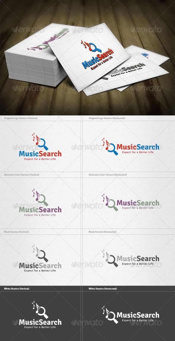Music Search Logo - Symbols Logo Templates
