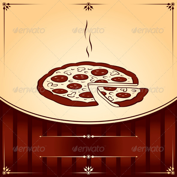 Fast Food Hot Pizza.  - Food Objects