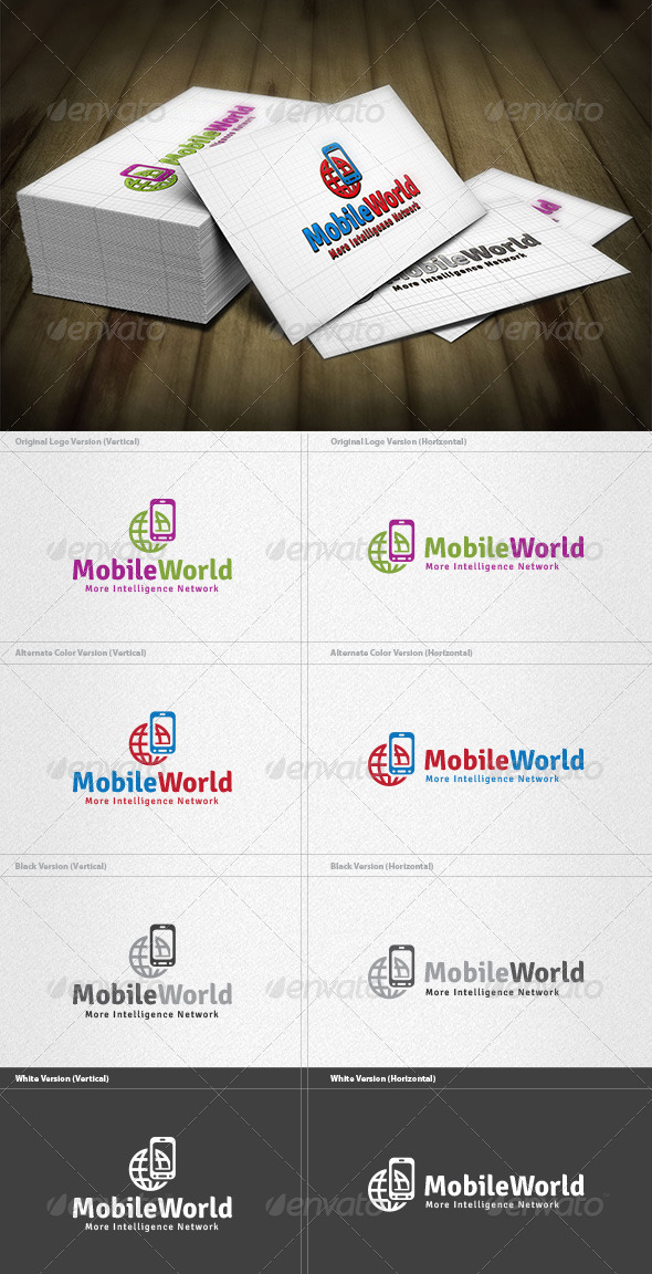 Mobile World Logo - Symbols Logo Templates