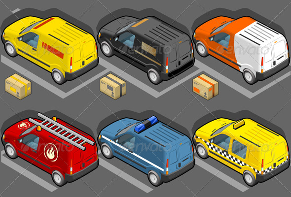 Isometric Van in Six Livery - Objects Vectors