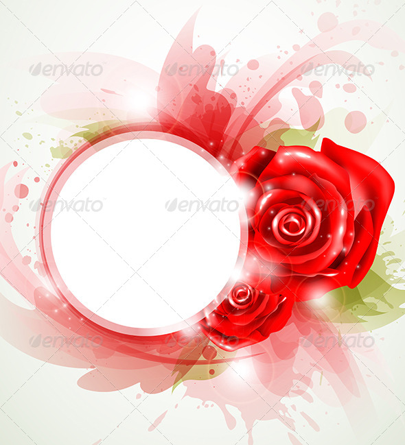 Red Abstract Rose - Backgrounds Decorative